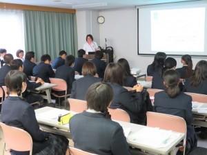 県立富士見高校1年生が見学に来られました2