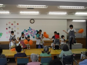 エンジョイクラブ(回復期リハ)のイベントにいちご保育室園児が参加しました!