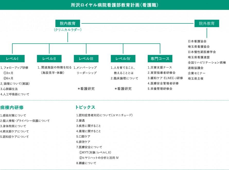 所沢ロイヤル病院看護部教育計画(看護職)