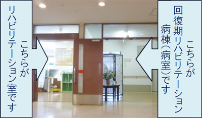 リハビリテーション室の入口写真